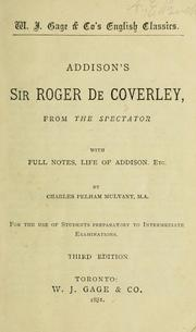 Cover of: Addison's Sir Roger de Coverley, from The spectator