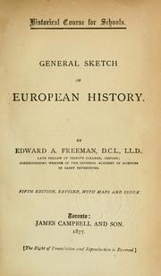 Cover of: General sketch of European history