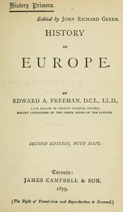 Cover of: History of Europe