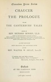 Cover of: The Prologue