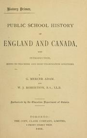 Cover of: Public school history of England and Canada