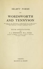 Cover of: Select poems of Wordsworth and Tennyson