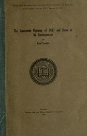 Cover of: The Duncombe uprising of 1837 and some of its consequences