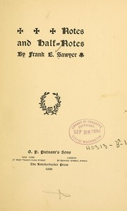 Cover of: Notes and half-notes