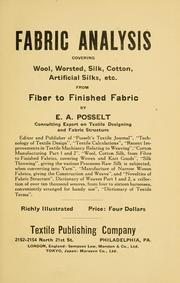 Cover of: Fabric analysis