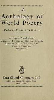 Cover of: An anthology of world poetry