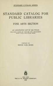 Cover of: Standard catalog for public libraries