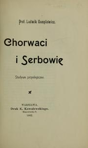 Cover of: Chorwaci i Serbowie