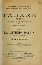 Cover of: Tabaré