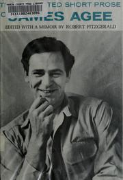 Cover of: The collected short prose of James Agee