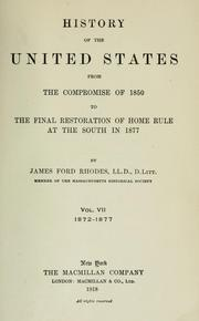 Cover of: History of the United States from the Compromise of 1850