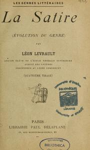 Cover of: La Satire (Evolution du genre)
