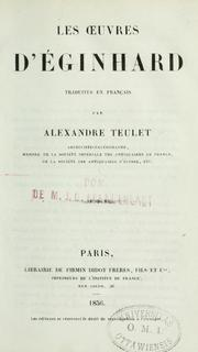 Cover of: Les Oeuvres d'Einhard