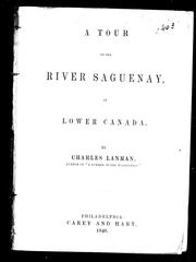 Cover of: A tour to the river Saguenay in Lower Canada