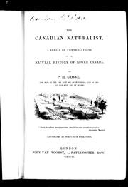 Cover of: The Canadian naturalist
