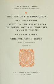 Cover of: The editor's introduction ; reader's guide ; index to the first lines of poems, songs, and choruses, hymns and psalms ; general index ; chronological index