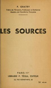 Cover of: Les sources