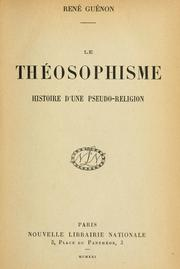 Cover of: Le théosophisme