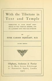 Cover of: With the Tibetans in tent and temple