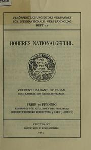Cover of: Hoheres Nationalgefuhl