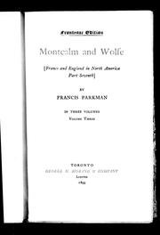 Cover of: Montcalm and Wolfe