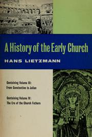 Cover of: A history of the early church