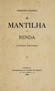 Cover of: A mantilha de renda