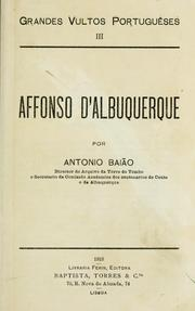 Cover of: Affonso d'Albuquerque