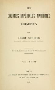 Cover of: Les douanes impériales maritimes chinoines