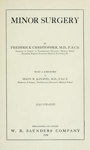 Cover of: Minor surgery