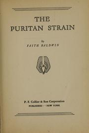 Cover of: The Puritan strain