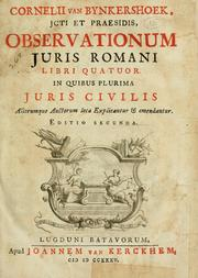 Cover of: Observationum juris romani libri quatour