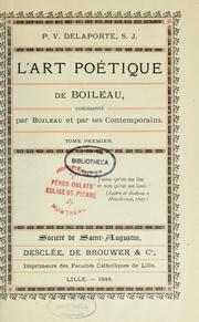 Cover of: L' art poétique