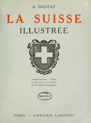 Cover of: La Suisse illustree