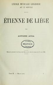 Cover of: Etienne de Liege