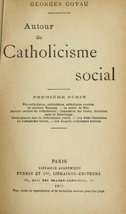 Cover of: Autour du catholicisme social