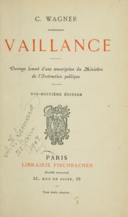 Cover of: Vaillance