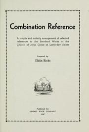 Cover of: Combination reference