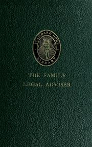 Cover of: The family legal adviser