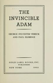 Cover of: The invincible Adam