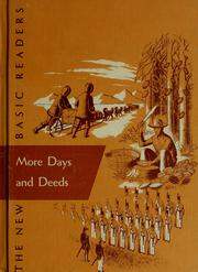 Cover of: More days and deeds