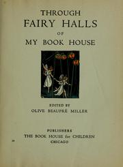 Cover of: My book house