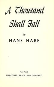 Cover of: A thousand shall fall