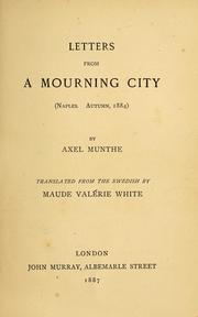 Cover of: Letters from a mourning city