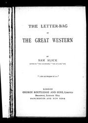 Cover of: The letter-bag of the Great Western