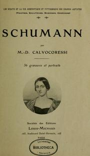 Cover of: Schumann