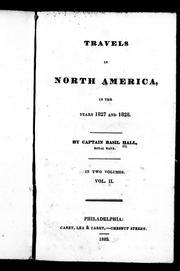 Cover of: Travels in North America, in the years 1827 and 1828