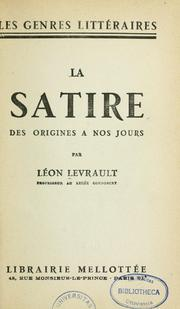 Cover of: La Satire des origines à nos jours