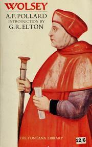 Cover of: Wolsey. With an Introd. by G.R. Elton