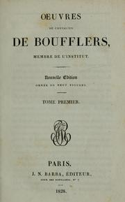 Cover of: Oeuvres du chevalier de Boufflers --